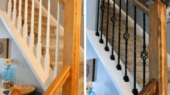 How To Replace Wooden Balusters With Iron The Easy And Cheap Way