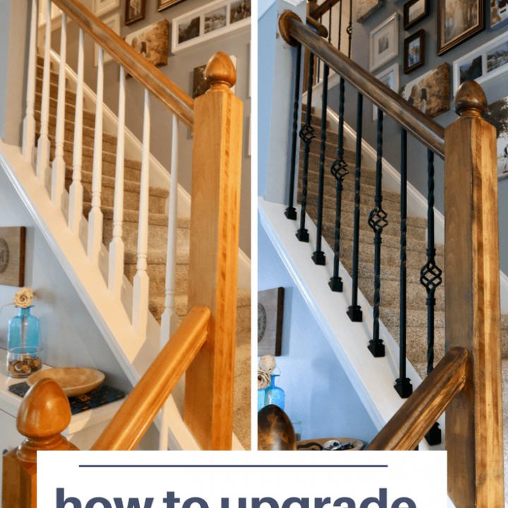 How to replace wood balusters with iron