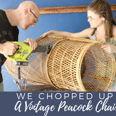 Trash To Treasure: What to do with a Damaged Vintage Peacock Chair