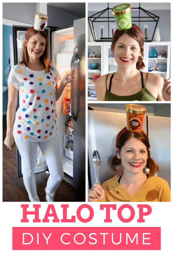 DIY Group Costume Idea: Halo Top Ice Cream via Charleston Crafted