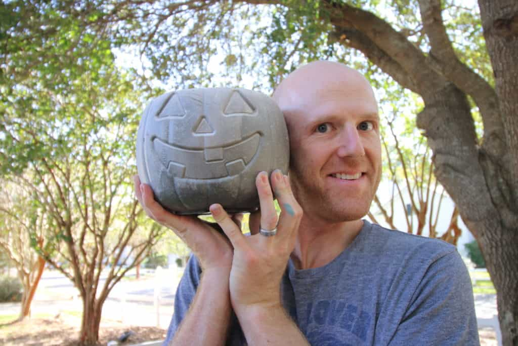 How to Make DIY Concrete Pumpkins via Charleston Crafted