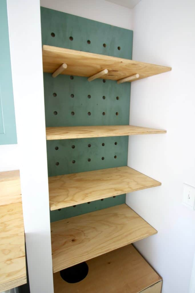 ORC: DIY Oversized Pegboard Shelving - Charleston Crafted