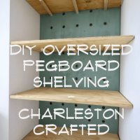 How to make Oversized Pegboard Shelves