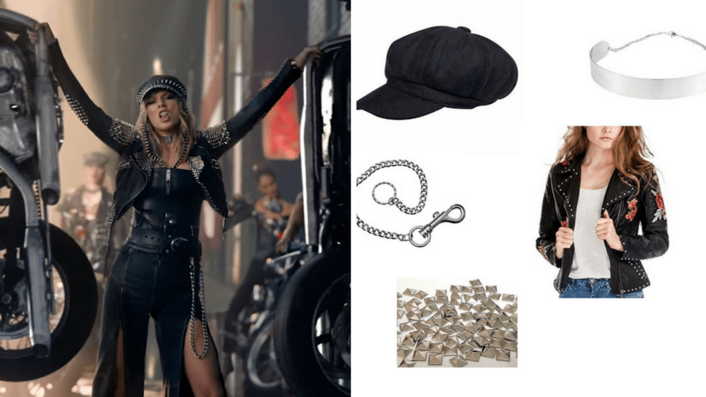 9 Look What You Made Me Do Taylor Swift DIY Halloween Costumes Motorcycle via Charleston Crafted