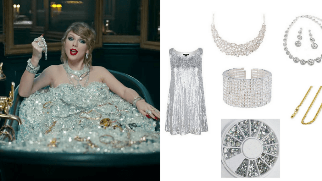 9 Look What You Made Me Do Taylor Swift DIY Halloween Costumes Bath Tub via Charleston Crafted