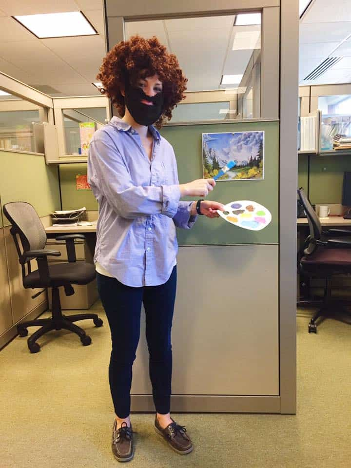 Bob Ross DIY costume