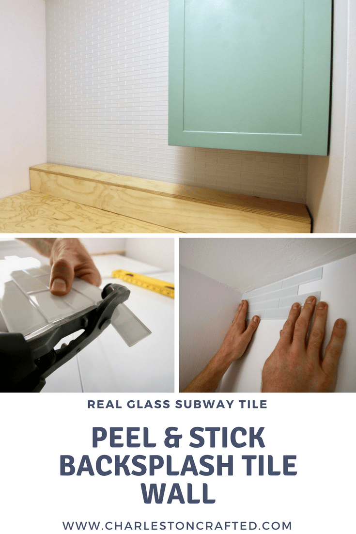 How to Hang a Peel & Stick Aspect Tile Accent Wall via Charleston Crafted
