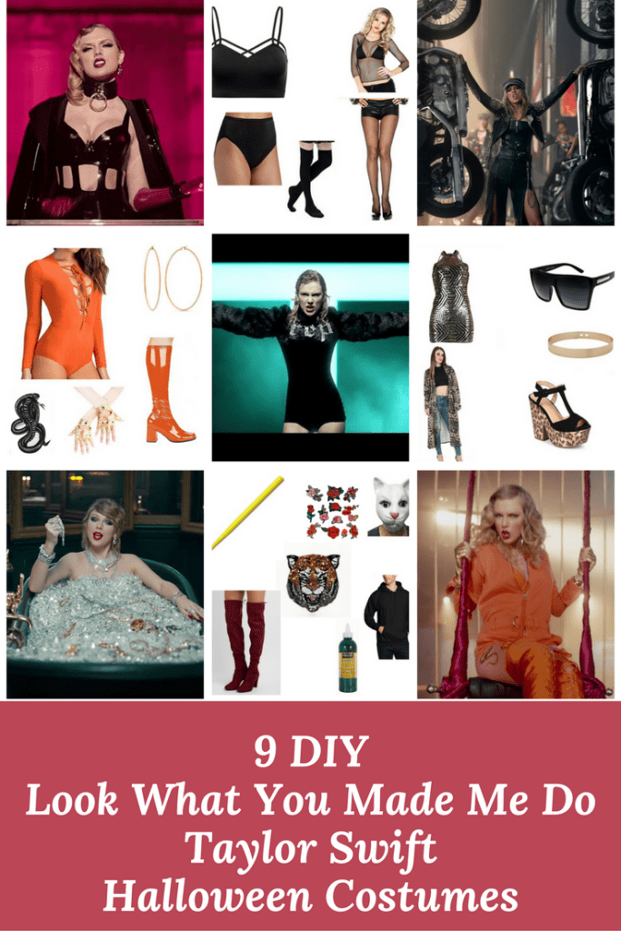 9 Look What You Made Me Do Taylor Swift DIY Halloween Costumes via Charleston Crafted