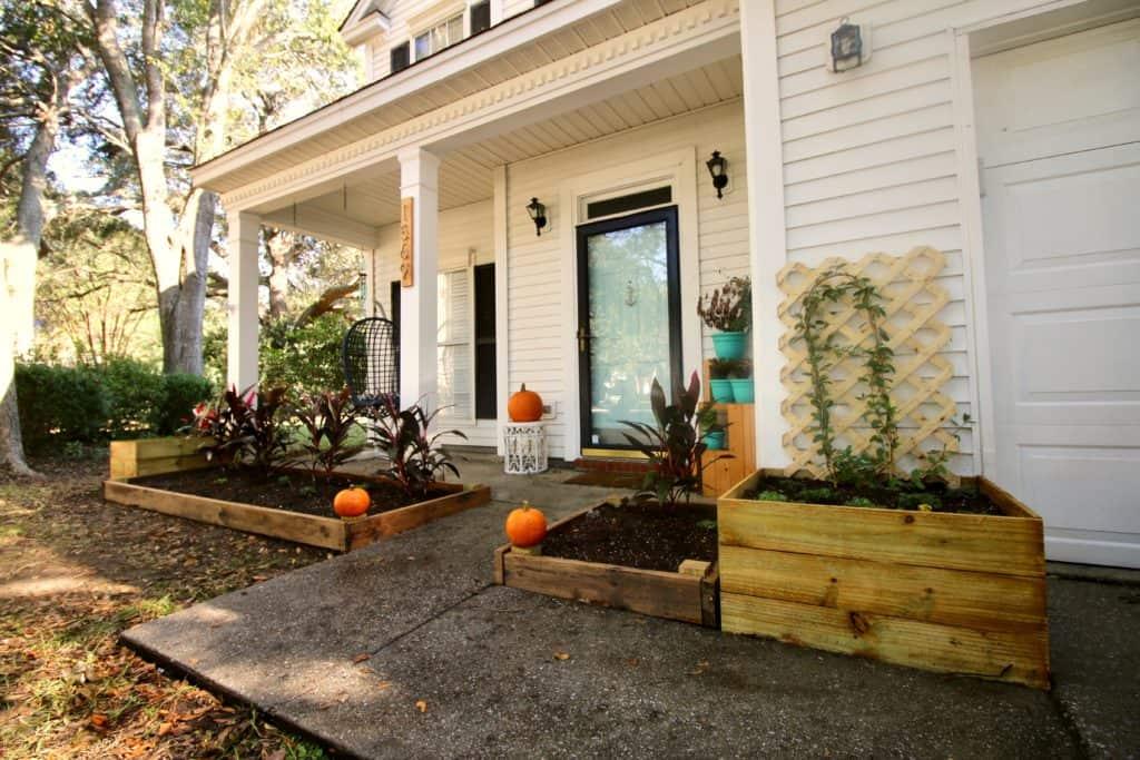 DIY Raised Bed Flower Garden - Charleston Crafted