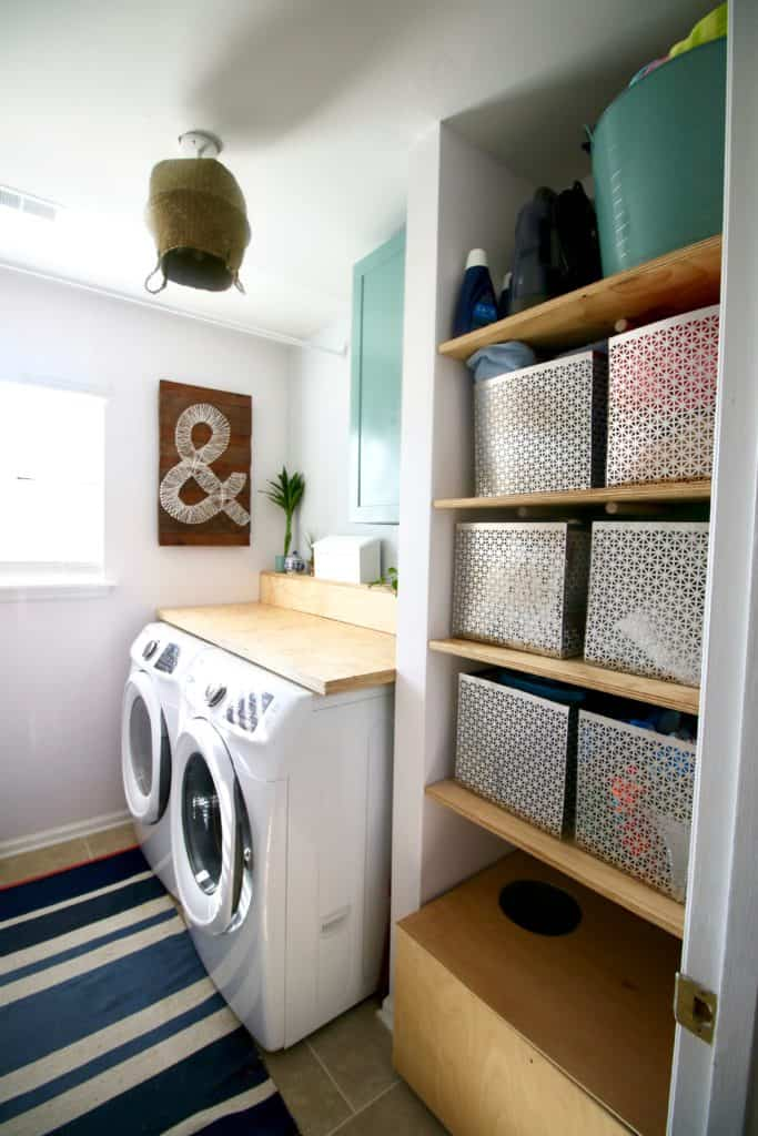 ORC: Laundry Room Makeover Reveal via Charleston Crafted