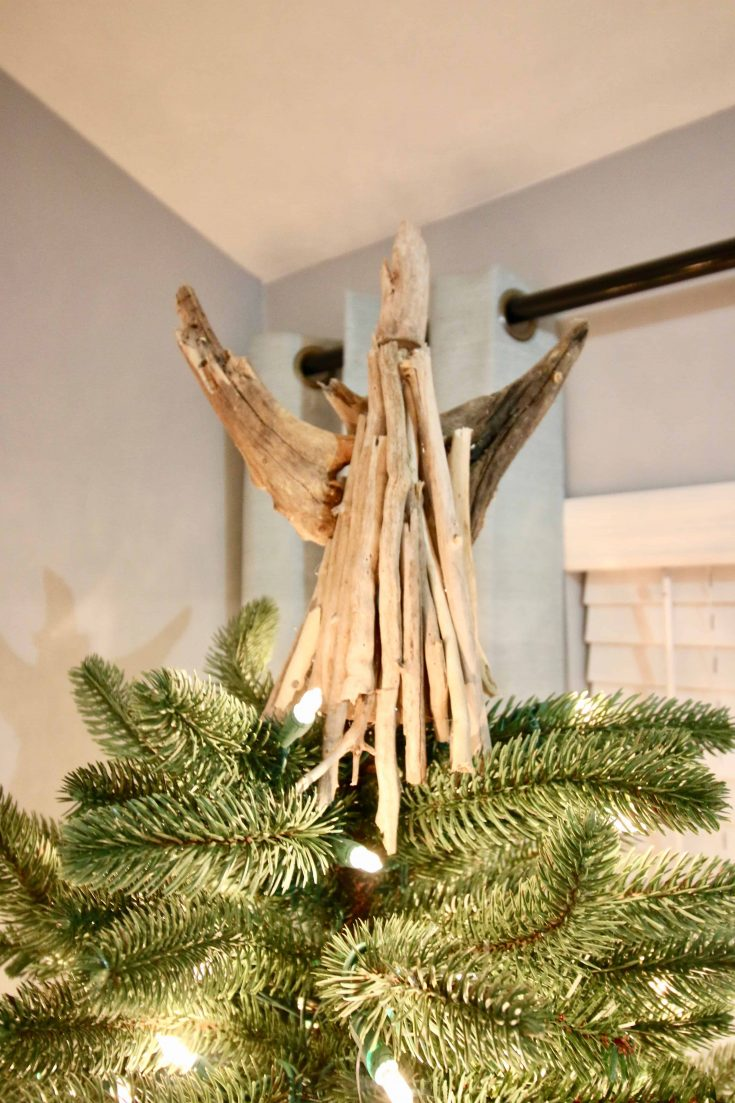 DIY Stick Angel Tree Topper