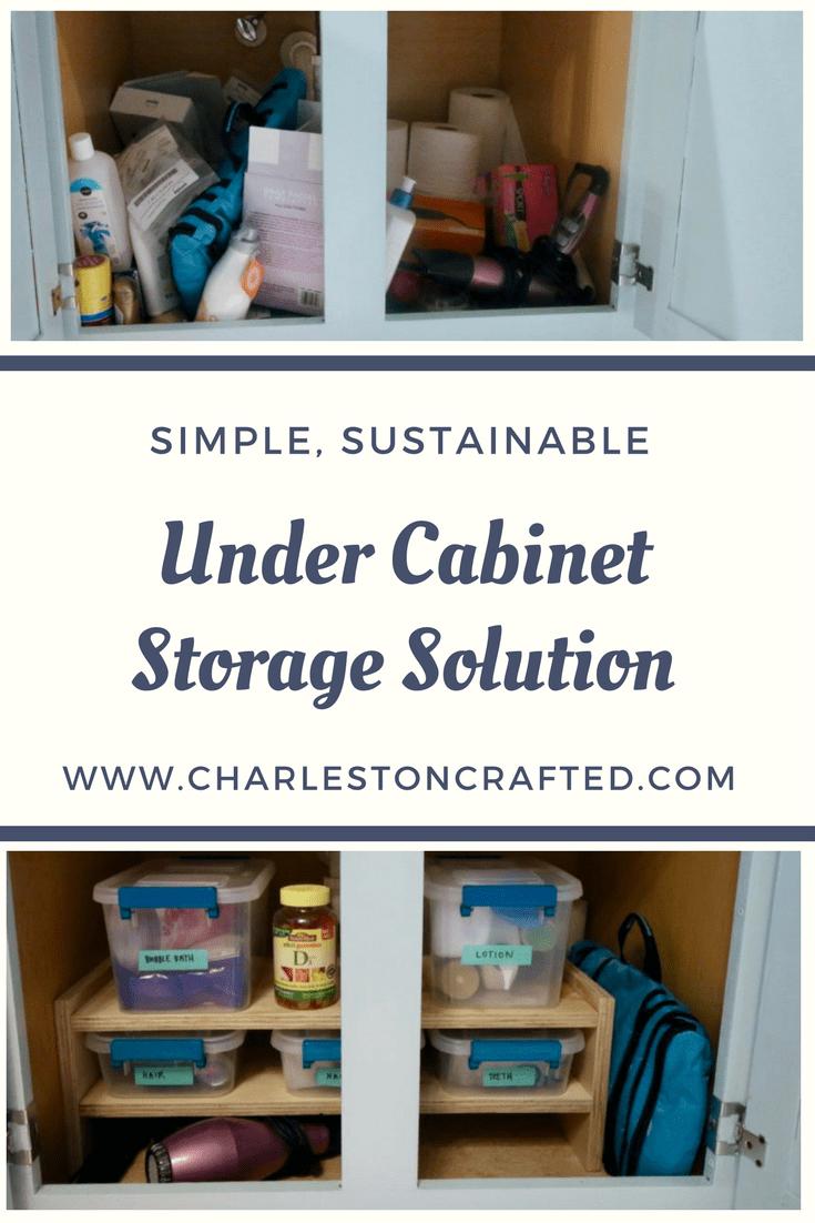Under Cabinet Storage Solution via Charleston Crafted
