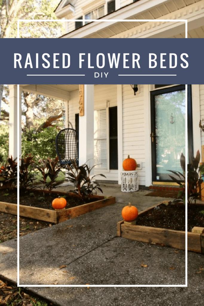 DIY Raised Flower Bed Garden via Charleston Crafted