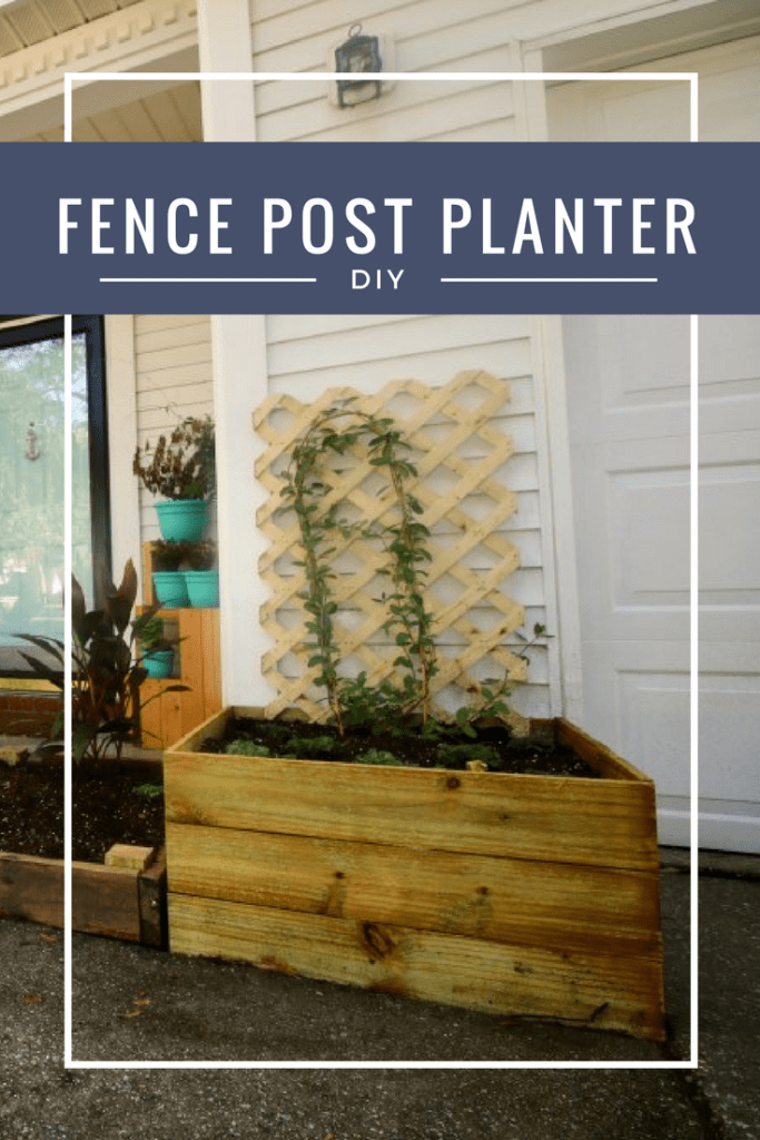 DIY Fence Post Planters via Charleston Crafted