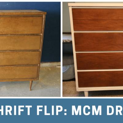 Thrift Flip: $70 Mid Century Modern Dresser Makeover