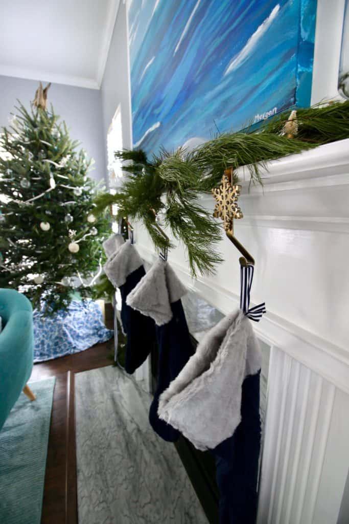 A Coastal Christmas Mantel via Charleston Crafted