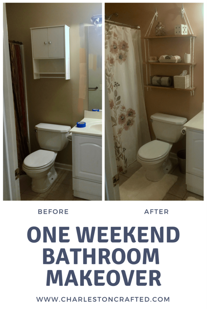 Two Day Bathroom Makeover  via Charleston Crafted