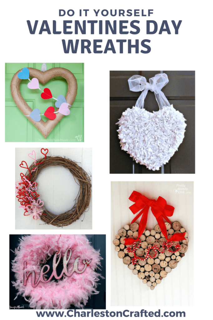 DIY valentines day wreaths via charleston crafted