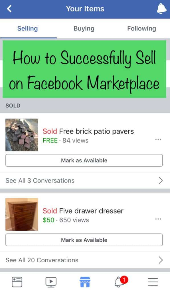 How to Successfully Sell on Facebook Marketplace - Charleston Crafted