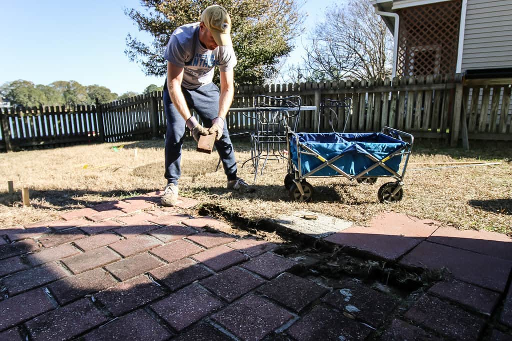 Removing Our Old Patio - Charleston Crafted