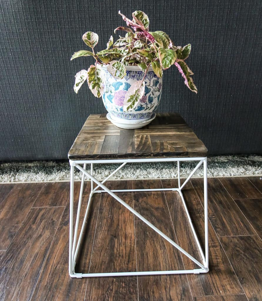 Herringbone Wooden Plant Stand via Charleston Crafted