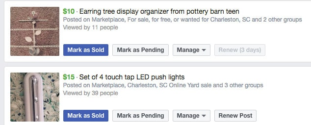 How do you bump a post on Facebook marketplace?