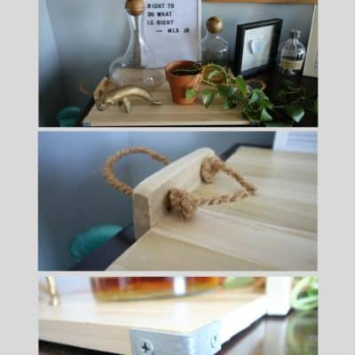 How to make a wooden bar tray