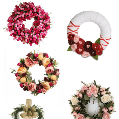 amazon valentines day wreaths via Charleston Crafted.com