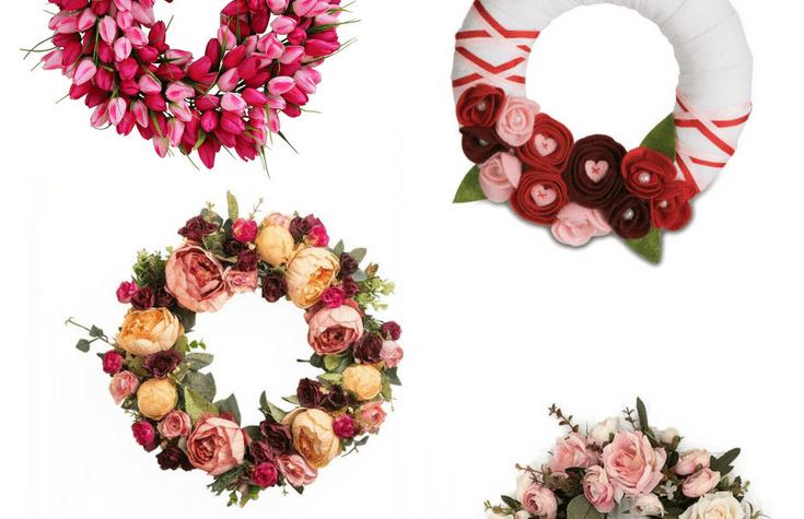 amazon valentines day wreaths via Charleston Crafted.com