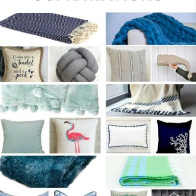 Six Nautical Pillow + Blanket Combinations