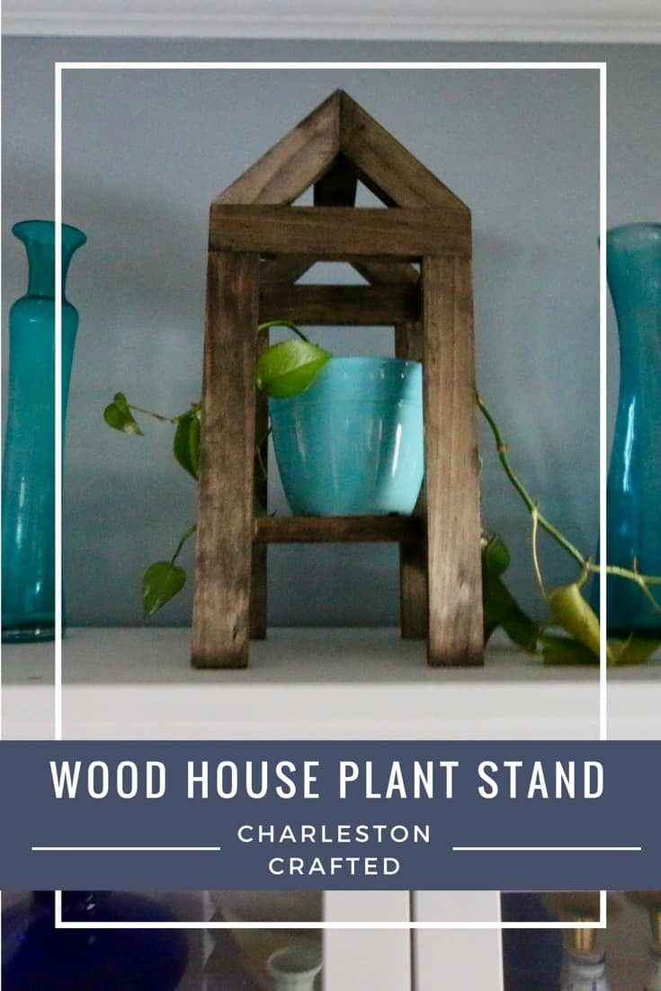 Wood House Plant Stand