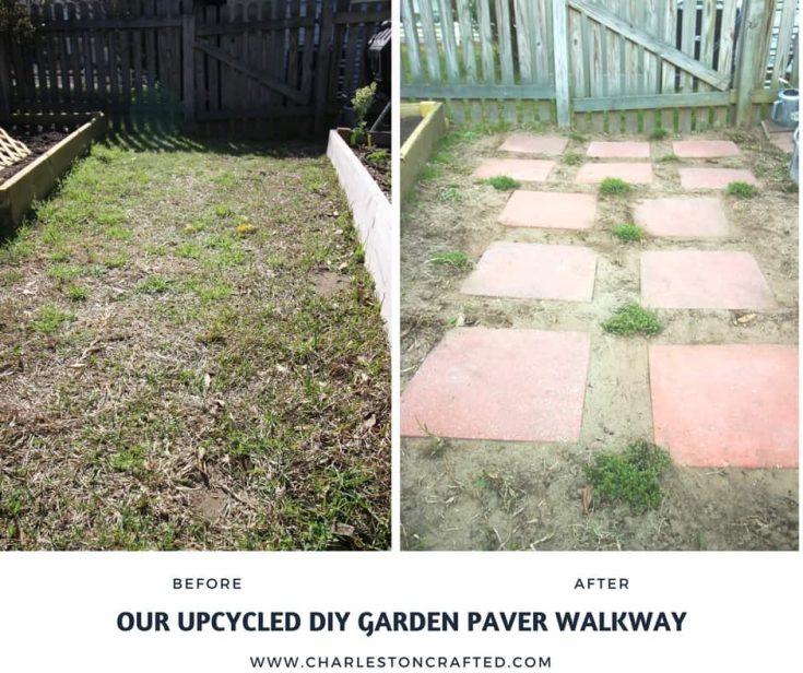 Our DIY Garden Paver Walkway