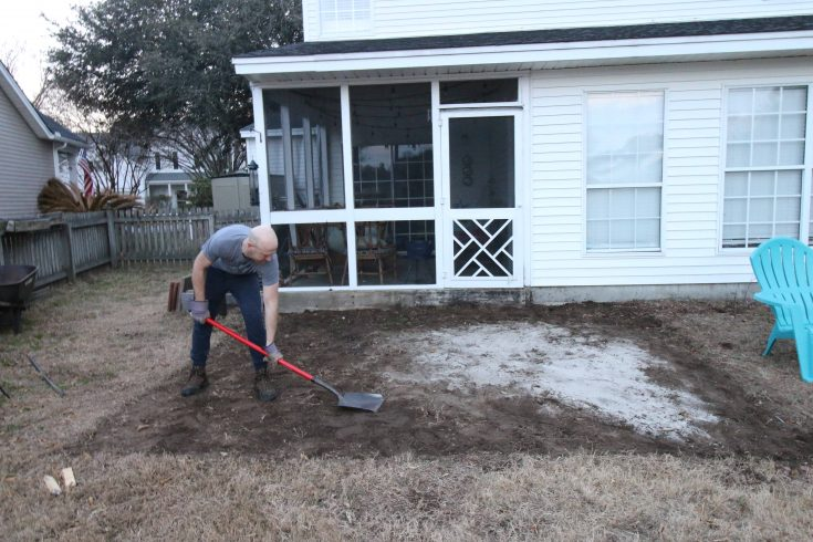 Removing our old patio