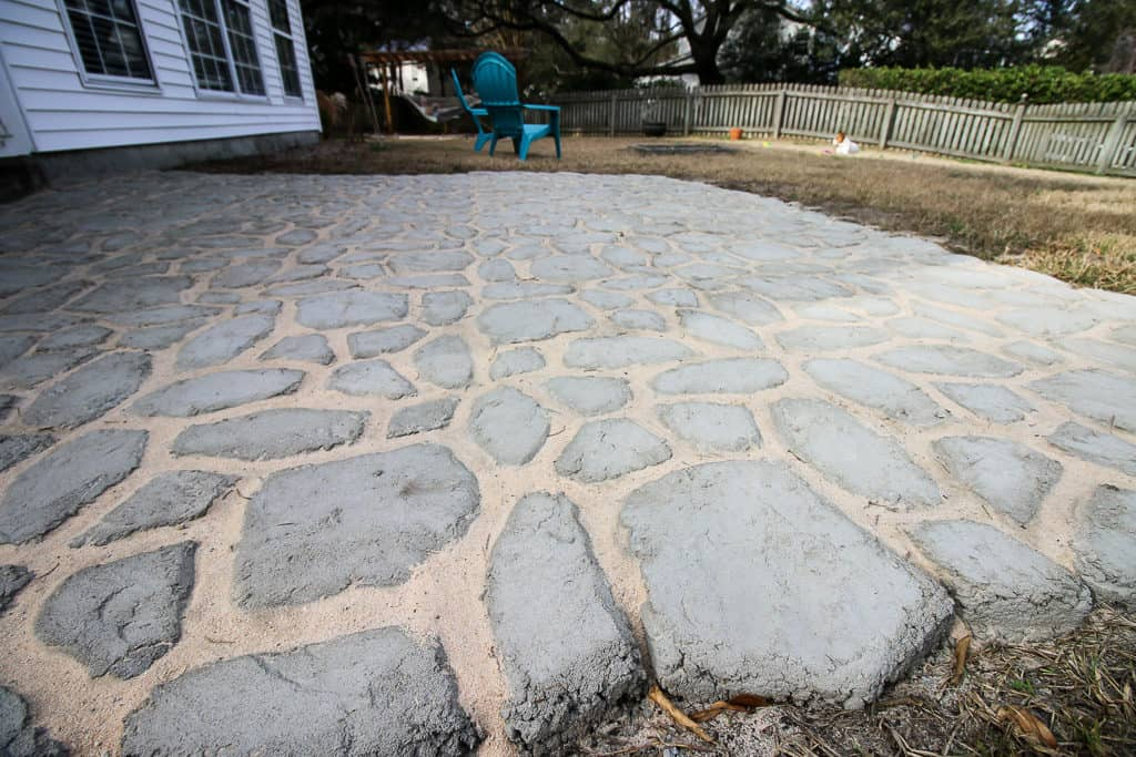 How to add Polymeric Sand to Quikrete Walkmaker Pavers via Charleston Crafted
