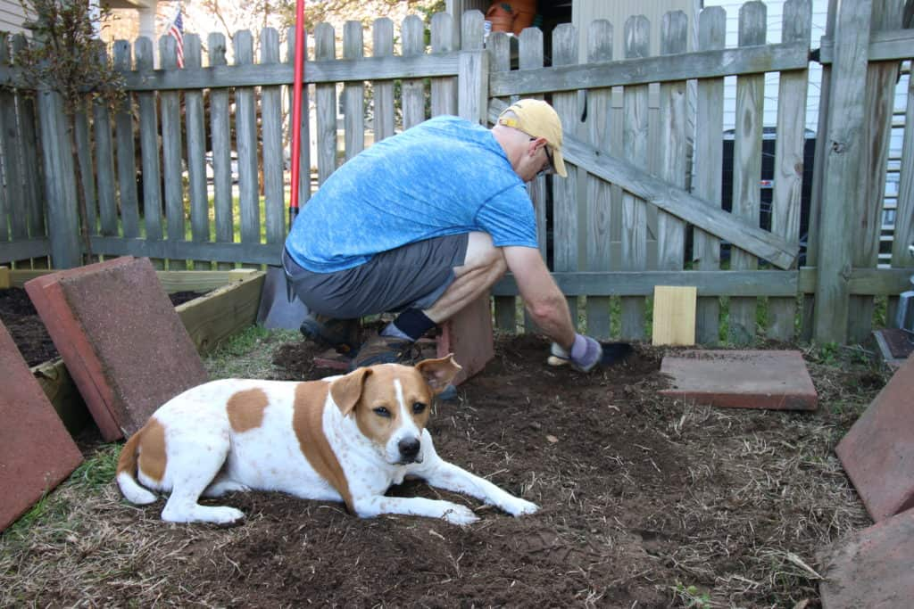 Our DIY Garden Paver Walkway - Charleston Crafted