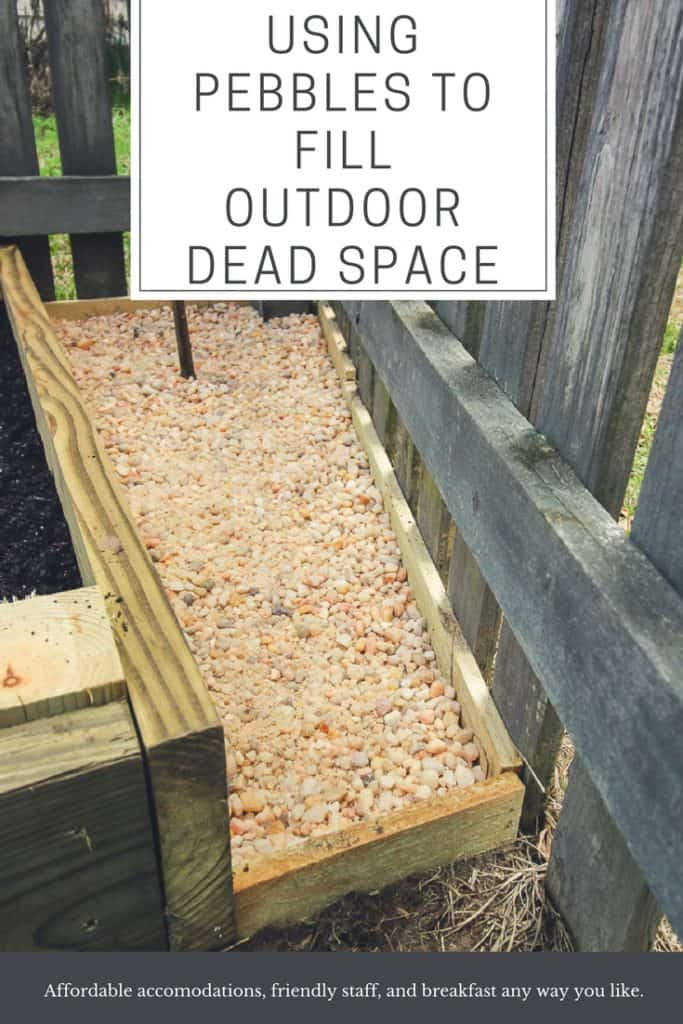 Using Pebbles to Fill Outdoor Dead Space