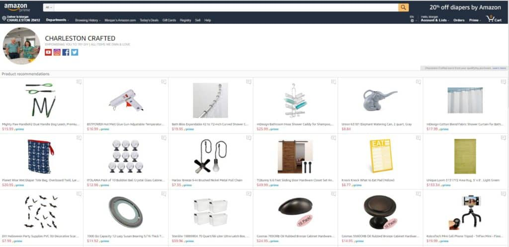 Our Amazon Shop via Charleston Crafted