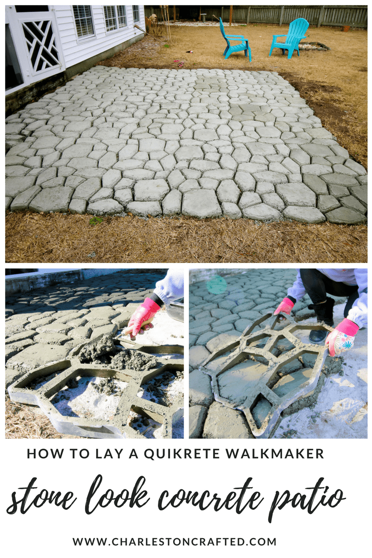 Making A Patio With Stones: How To Make A QUIKRETE WalkMaker Patio