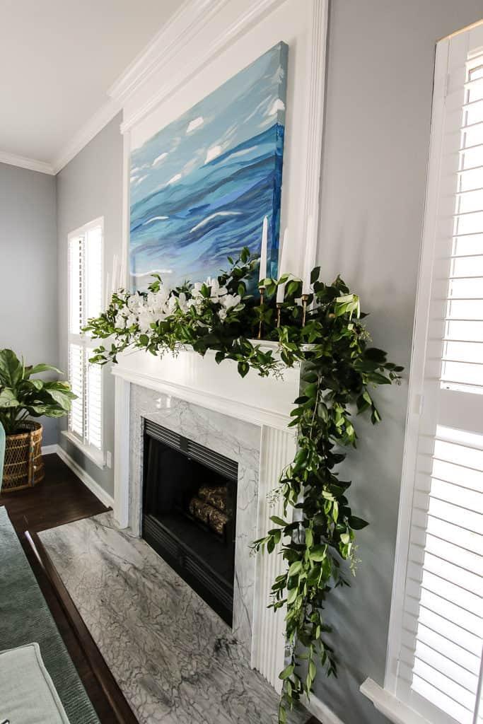 Spring Floral Azalea Mantel via Charleston Crafted