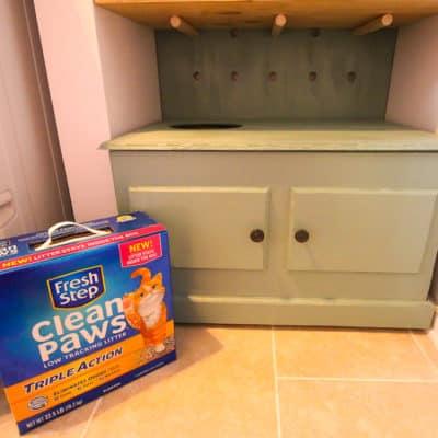 DIY Hidden Litter Box Solution