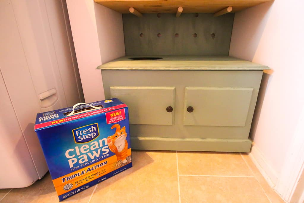 DIY Hidden Litter Box Solution - Charleston Crafted