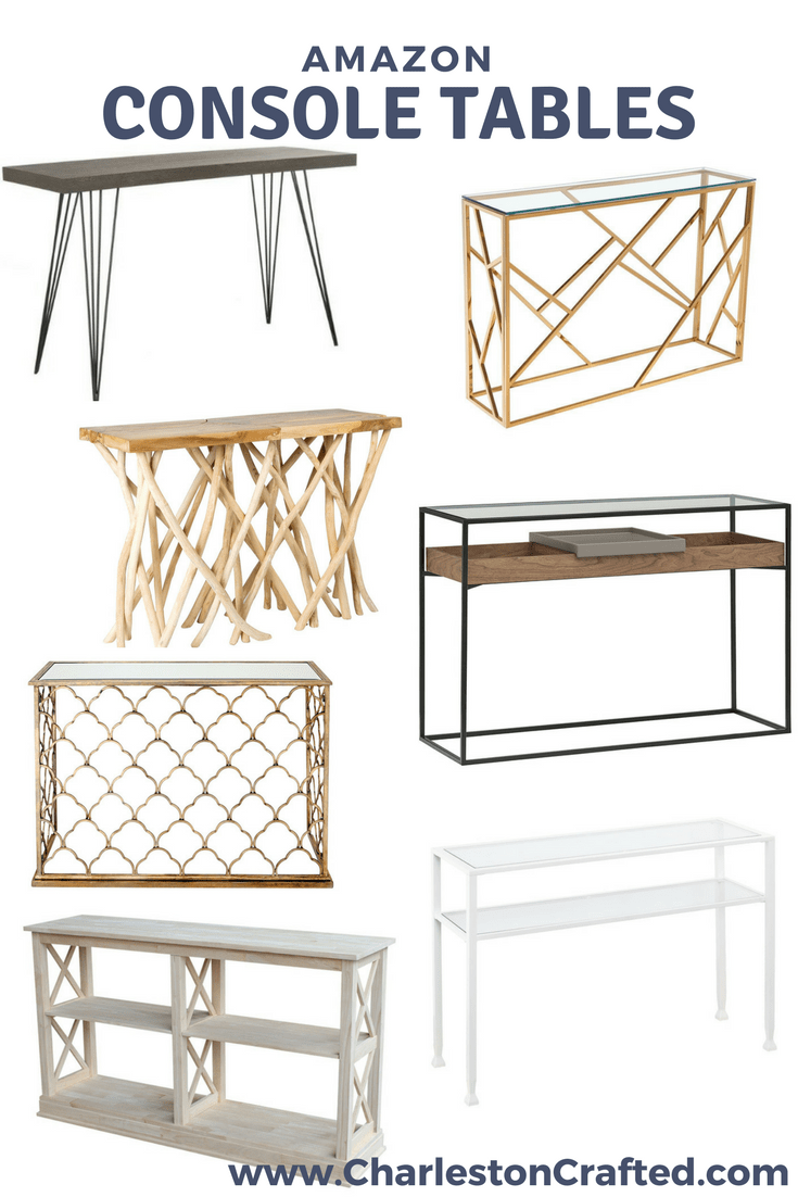 Fabulous Console Table Ideas - from Amazon via Charleston Crafted