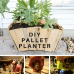 DIY Scalloped Pallet Wood Planter