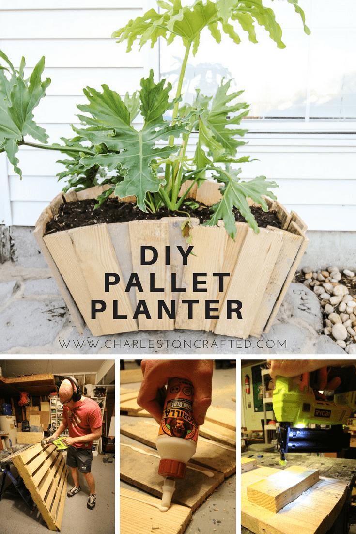 DIY Scalloped Pallet Wood Planter