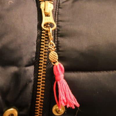 DIY Removable Pineapple Tassel Zipper Pull