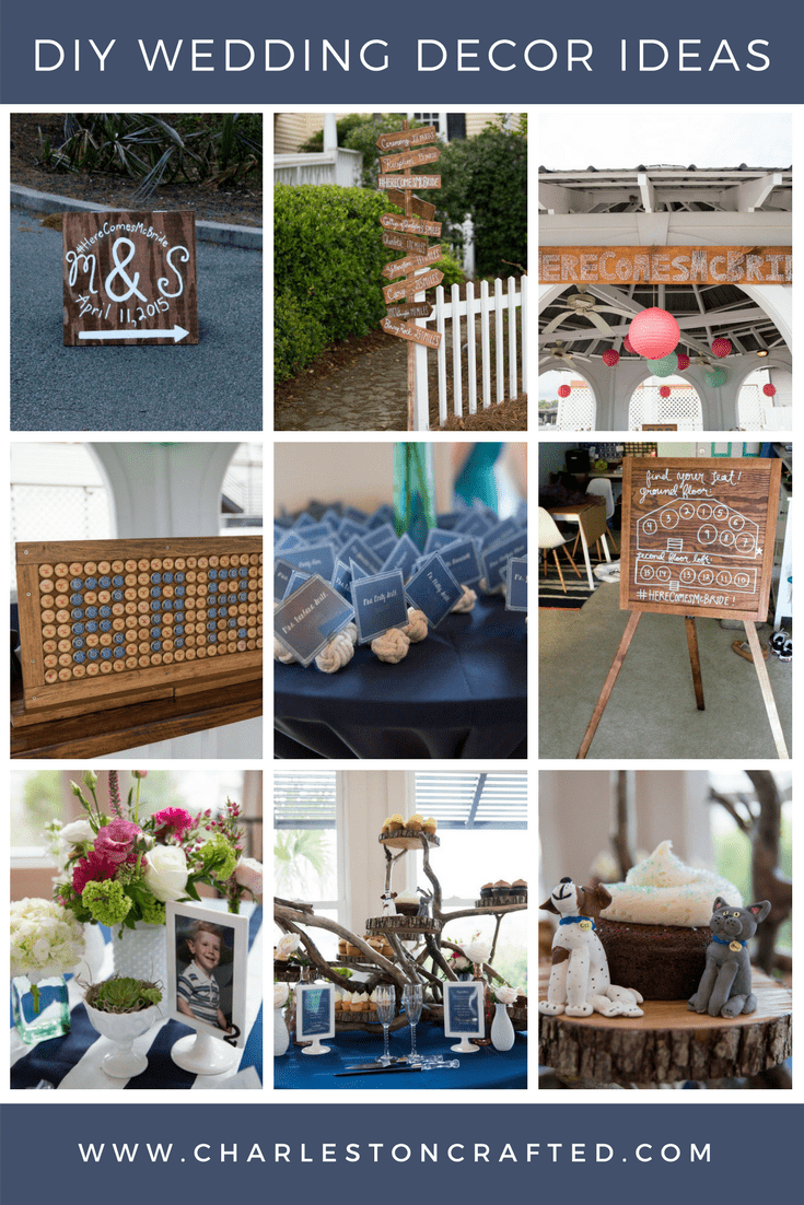 9 DIY Wedding Decor Ideas via Charleston Crafted