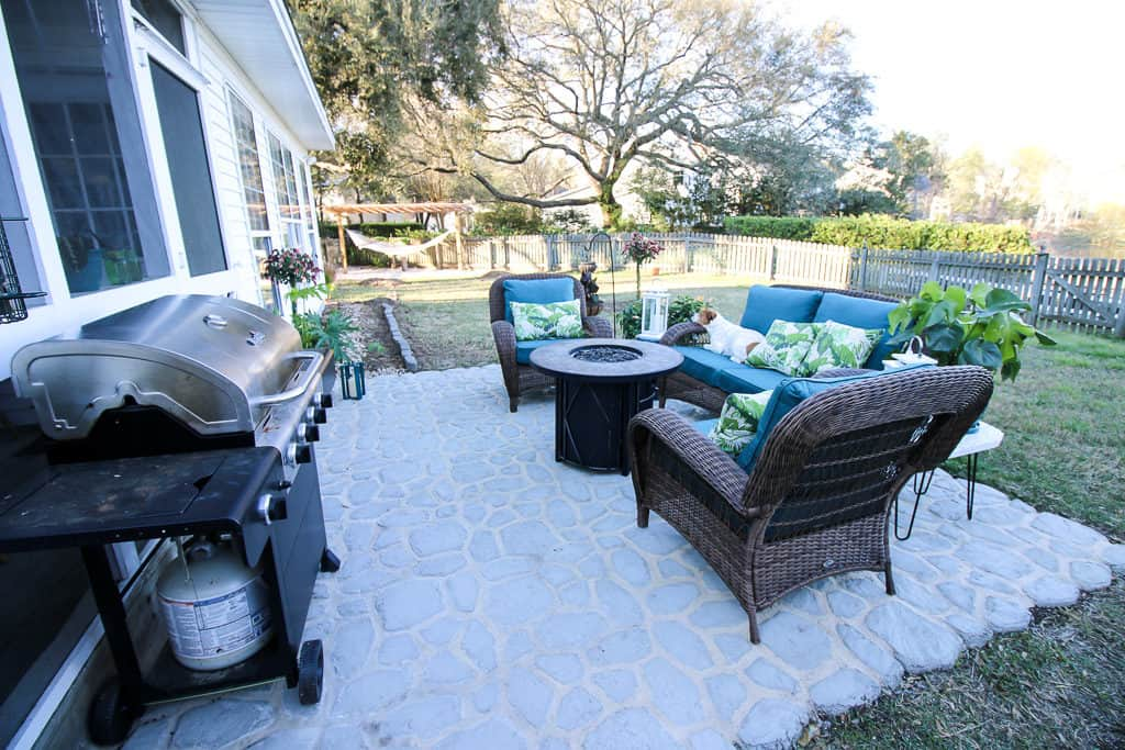Our Patio for the Home Depot Patio Style Challenge via Charleston Crafted