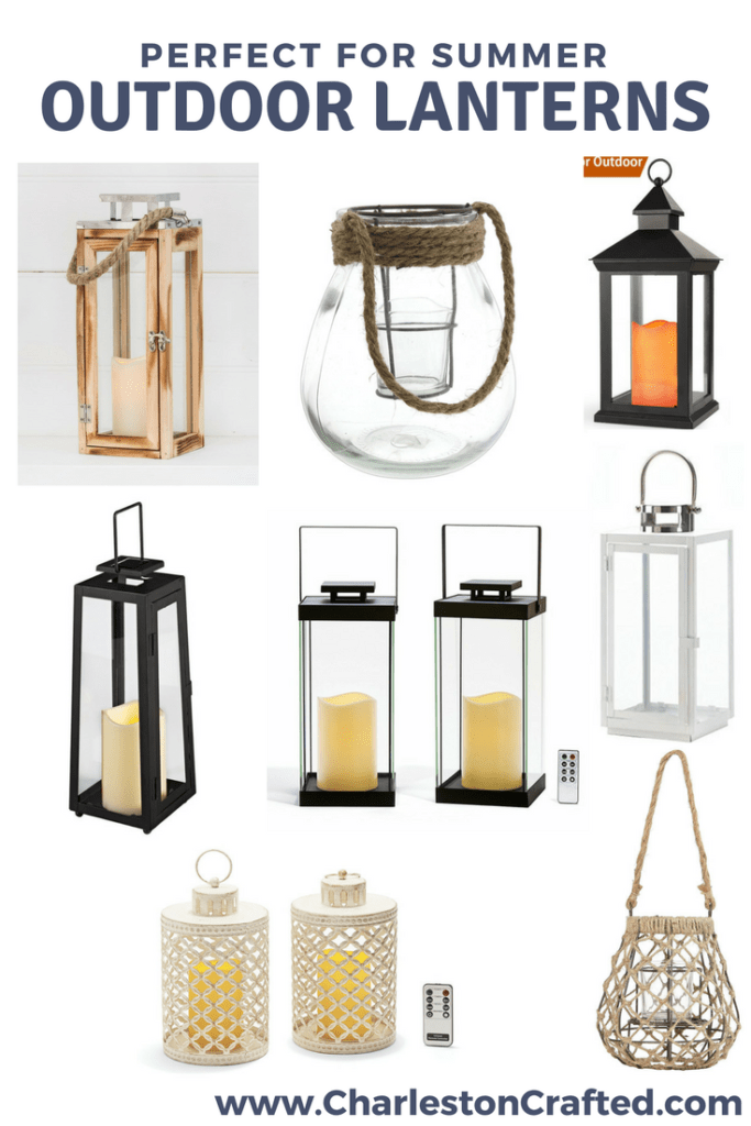 Outdoor Lanterns I Love via Charleston Crafted