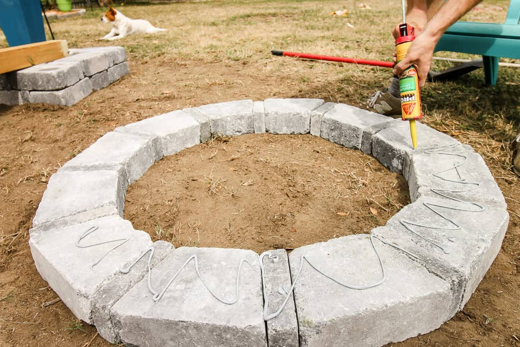 Our Hardscape Benches + Fire Pit with the Home Depot via Charleston Crafted