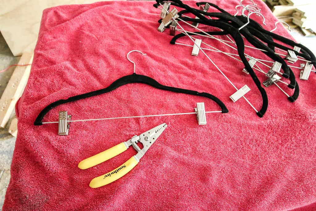 Repurpose Clip Hangers into Regular Hangers - Charleston Crafted